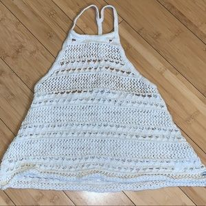 AEO American Eagle Outfitters crochet halter tank